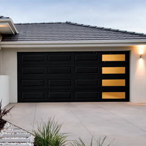 Mosaic Garage Door Windows Creates A Mid Century And Modern Look Amarr Doors Garage Door Design Modern Garage Doors Garage Door Styles