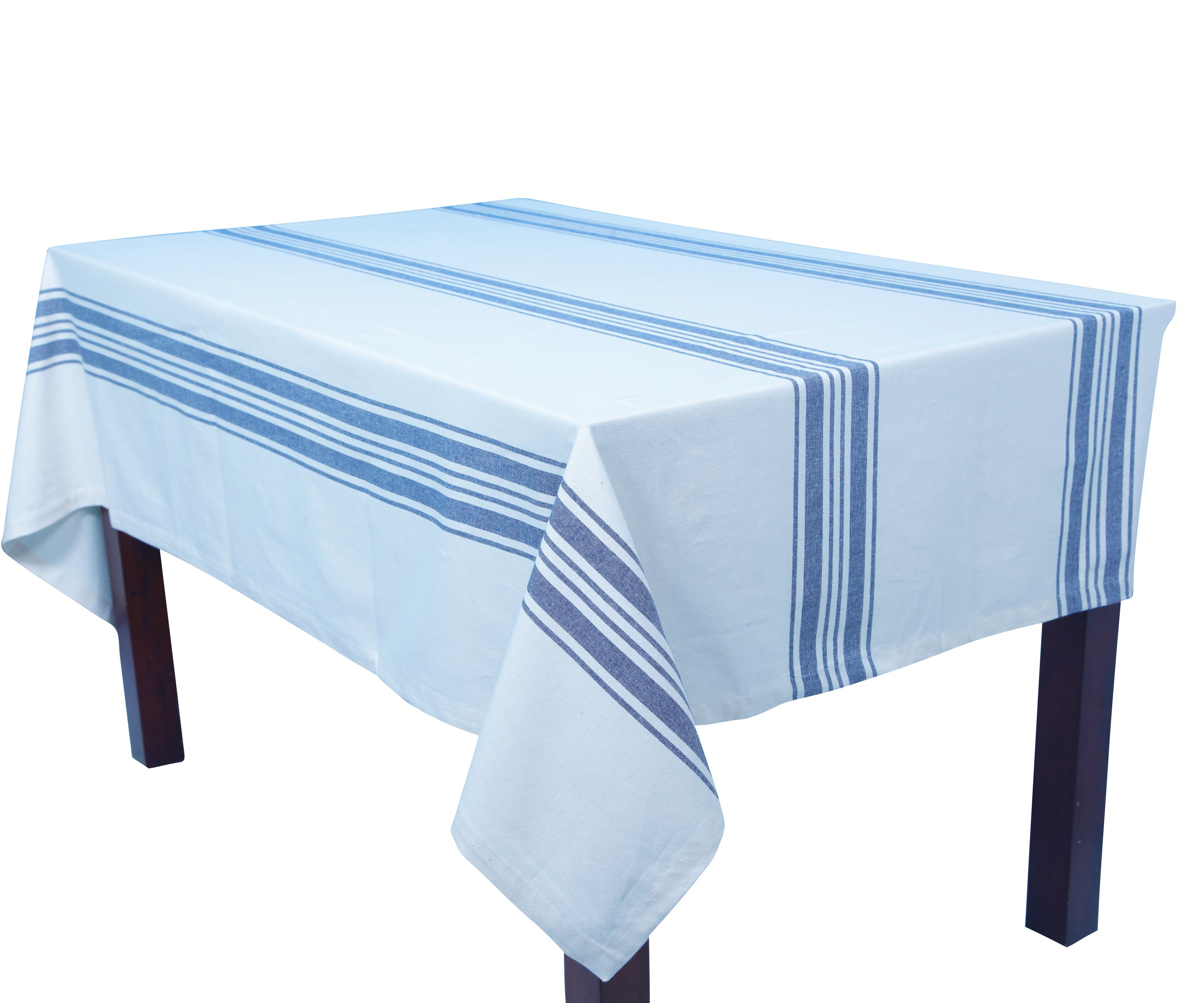 25 65 Country Stripes Kitchen Tablecloth For Christmas Decoration Blue Striped Tablecloth Striped Tablecloths Farmhouse Tablecloths