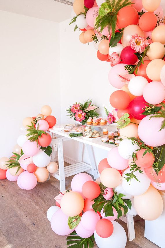 Tropical flamingo girl 39 s birthday party by the shift for B day decoration ideas