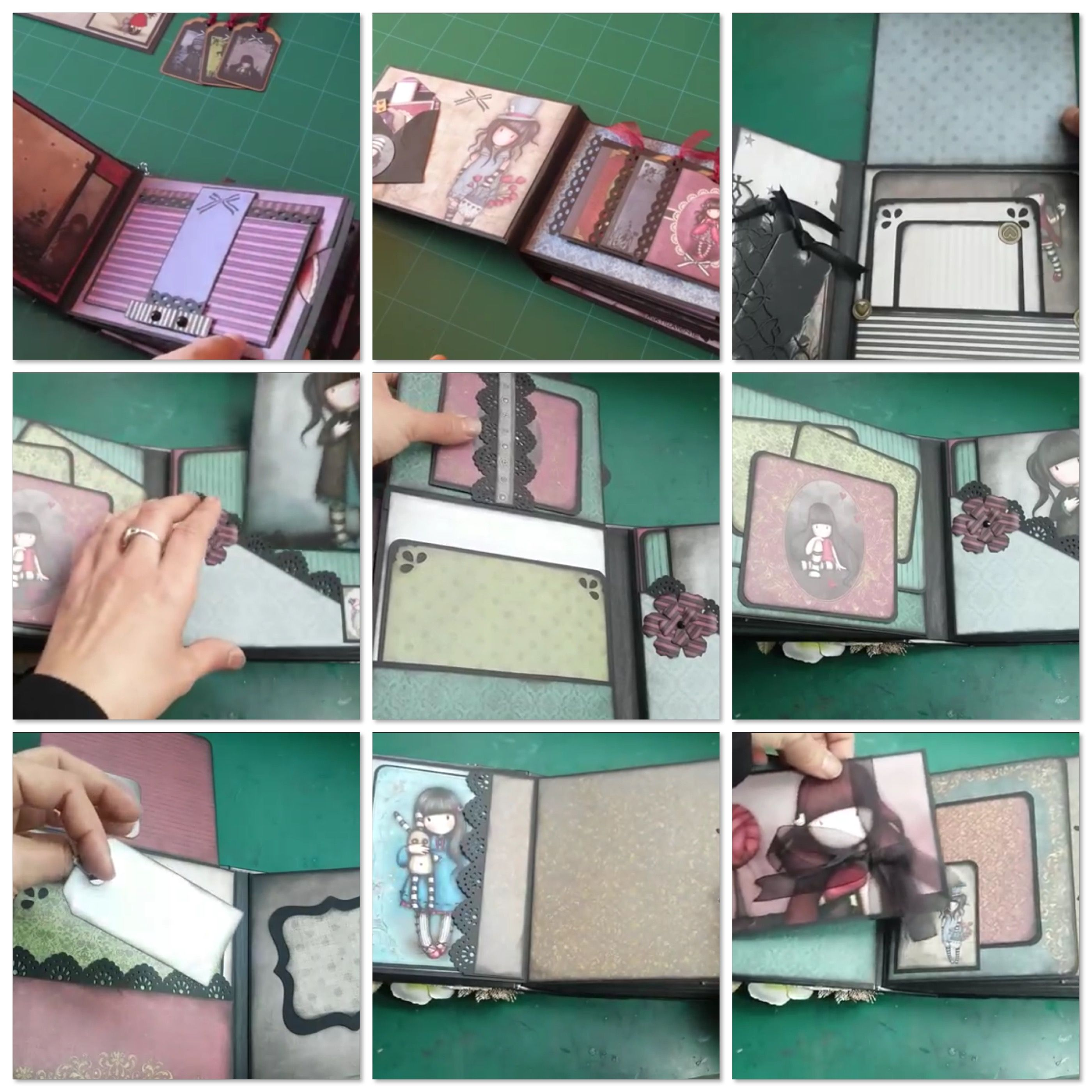 Idea Scrap Gorjuss Mini Albums Scrap Mini Scrapbook Albums Scrap Album