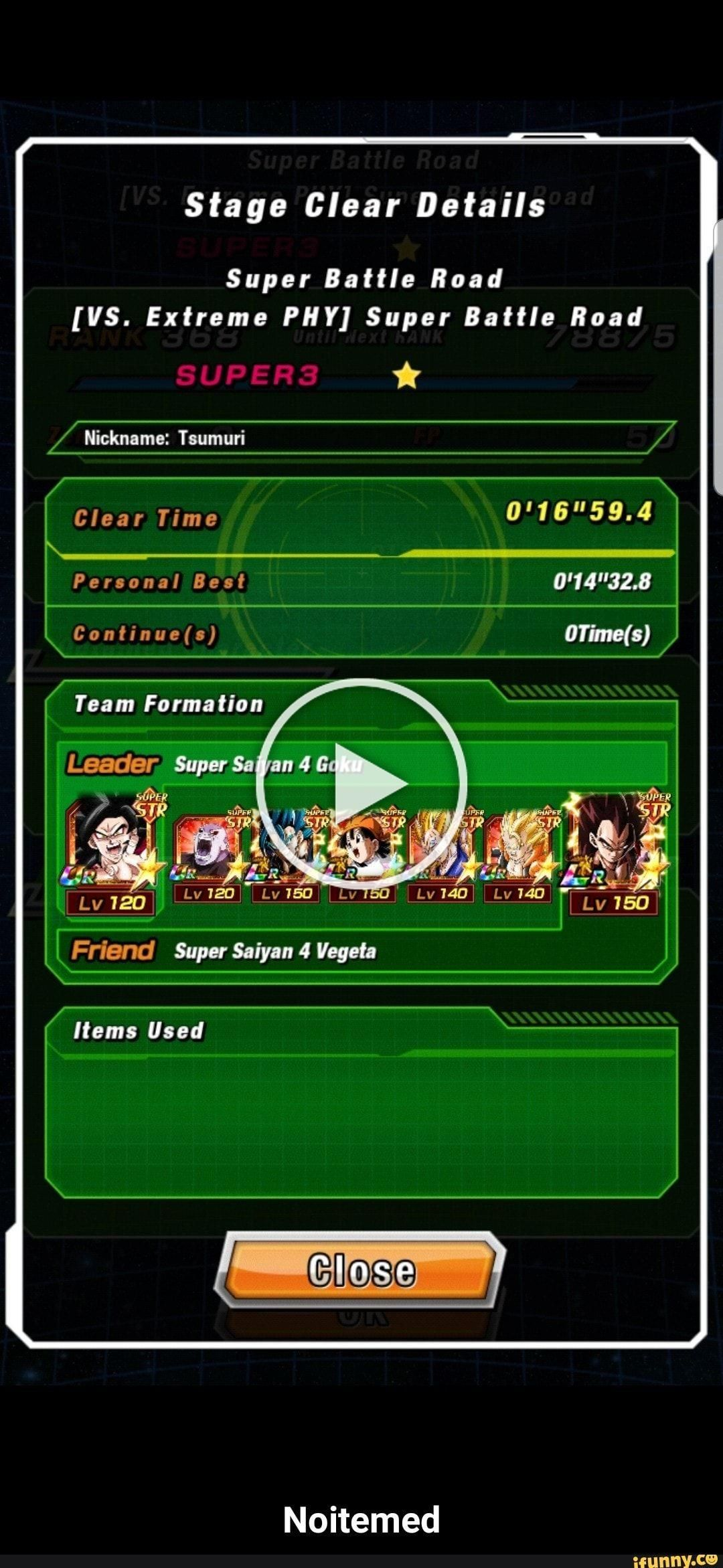 Stage Clear Details Super Battle Road IIS Extreme PNY Super Battle Road Team Formation  Noitemed  popular memes on the site