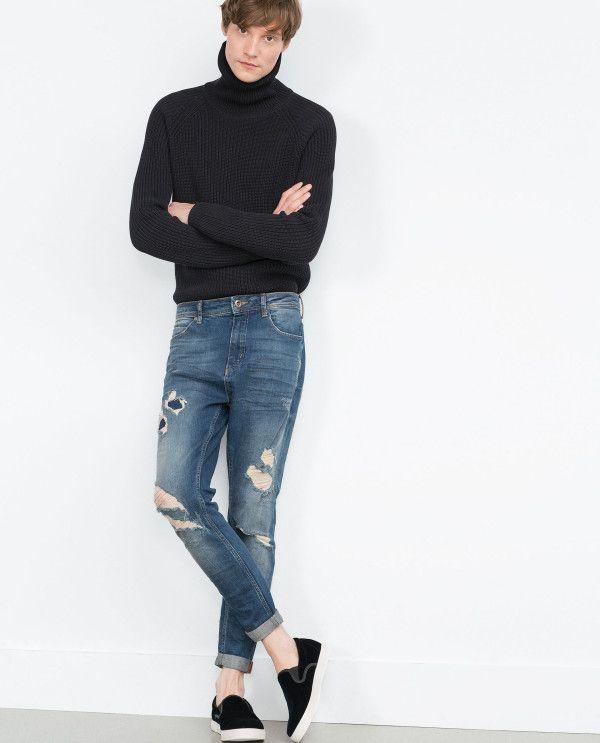 ae6a23211 catalogo-zara-2016-pantalon-denin-carrot-azulon | UNICO en 2019 ...