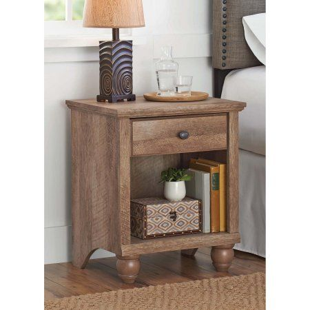 Better Homes Gardens Crossmill Accent Table Weathered Finish Walmart Com Bedroom Night Stands Nightstand Storage Innovative Furniture
