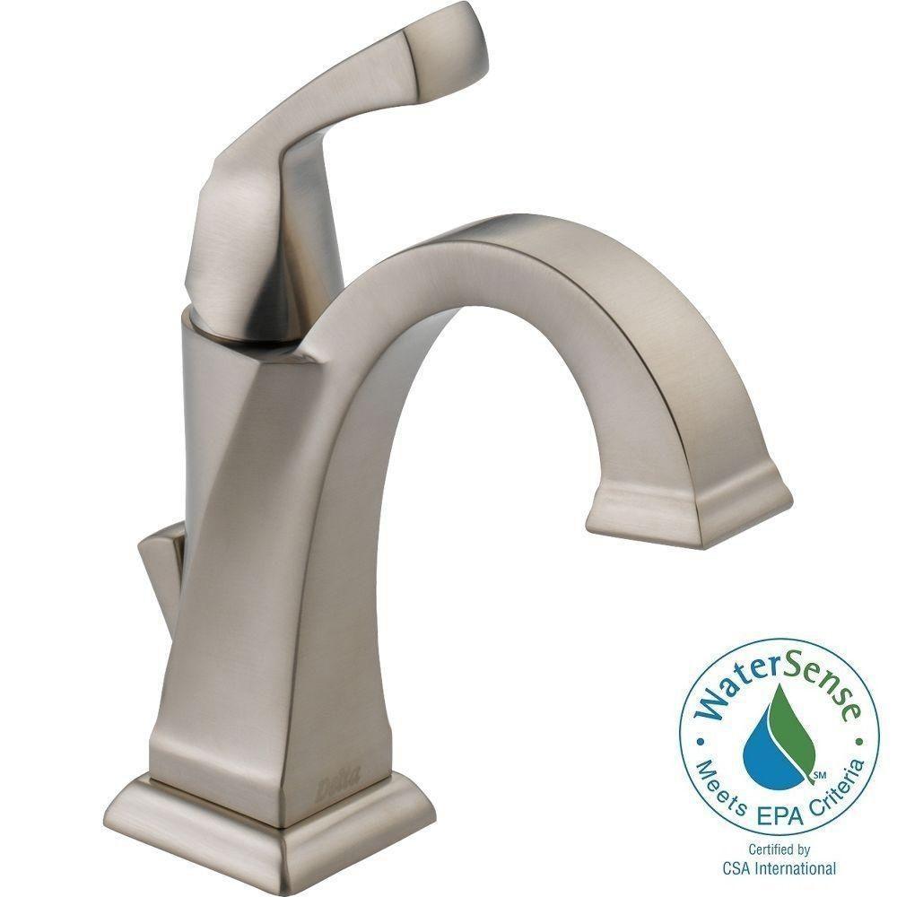Delta Dryden Single Hole Single Handle Bathroom Faucet with Metal