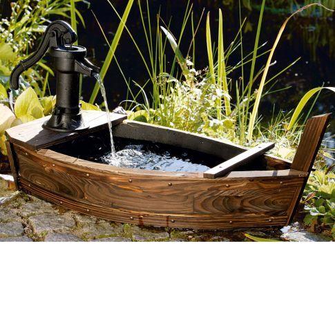 Brunnen Boot Vorderansicht Garten Pinterest Gardens