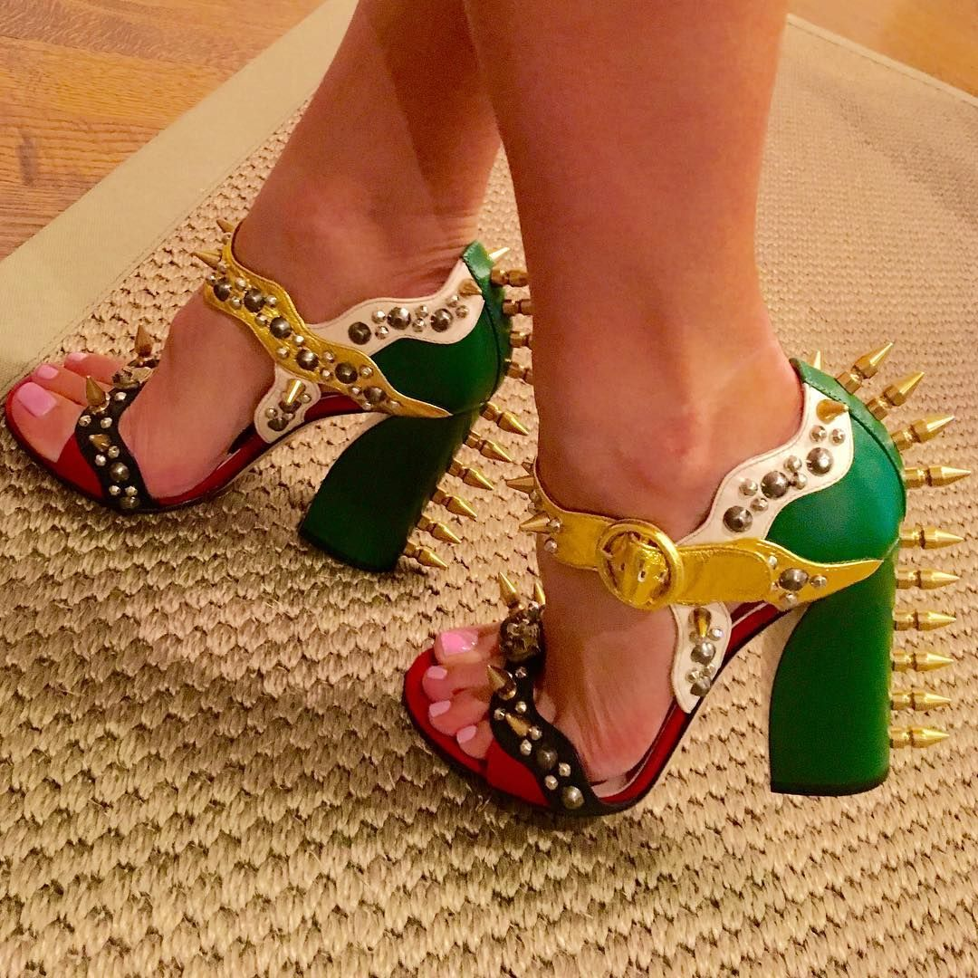 Hot Gucci shoes using Protect Your Pumps | Actual customer photo protecting these designer shoes with Protect Your Pumps | Protect Your Pumps extends the life of your heels & keeps them looking new by protecting the bottom of your shoe from the ground | Order @ ProtectYourPumps.com