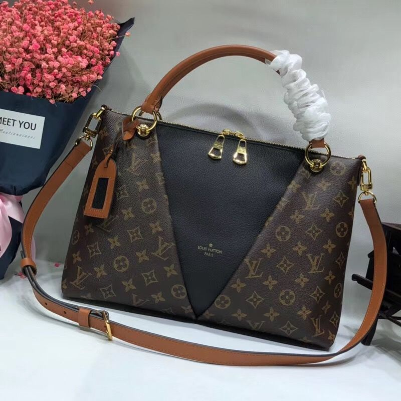 Louis Vuitton Monogram Canvas V Tote Mm Noir M43948 Louis