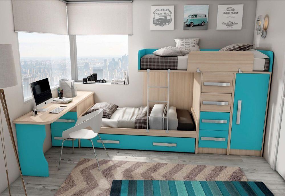 Design Kinderzimmer Step Inkl Hochbett Kleiderschrank