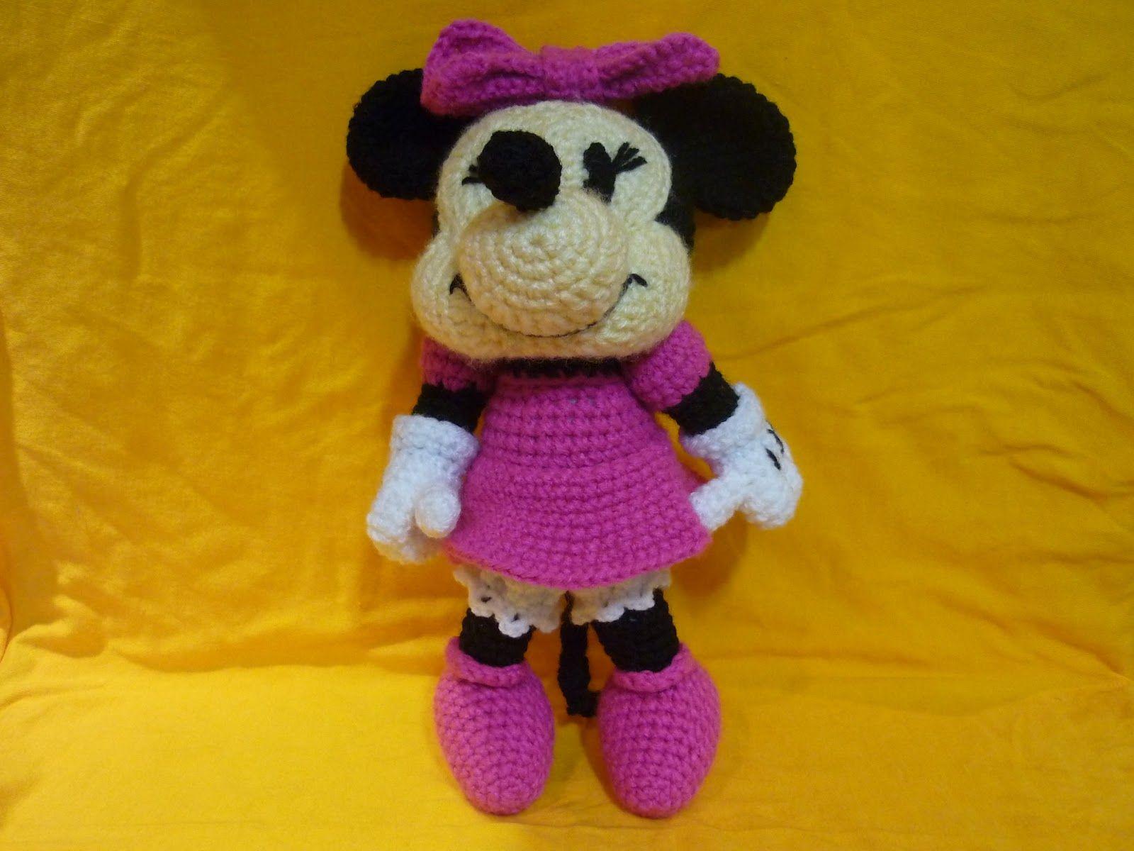 Amigurumi Crochet Personajes : Crochet amigurumi tejiendo sueños minnie amigurumi crochet