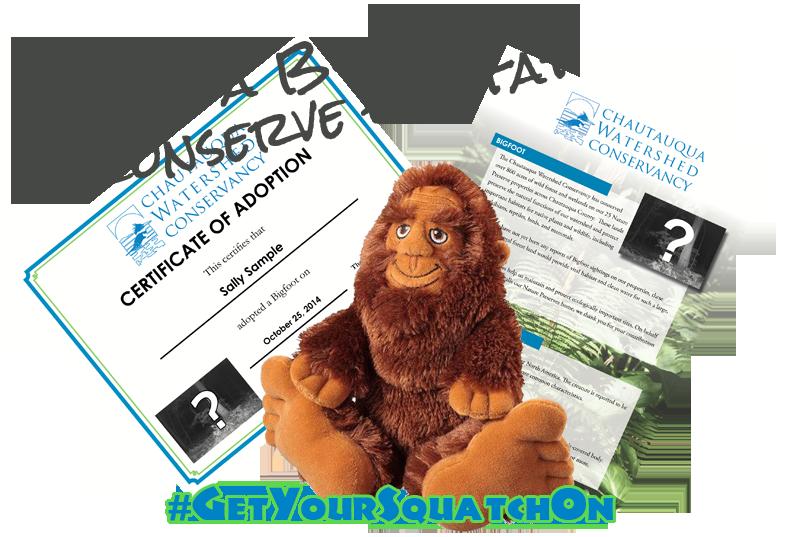 Adopt a Bigfoot to conserve habitat! | Chautauqua Watershed Conservancy | chautauquawatershed.org/bigfoot