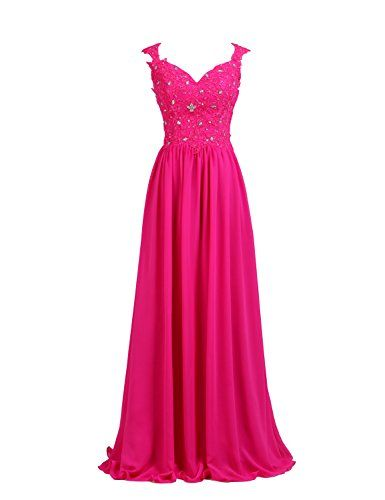 LucysProm Women's Prom Dresses V Neck Tulle&Chiffon with ... https://www.amazon.com/dp/B01D1HEFHW/ref=cm_sw_r_pi_dp_4xJDxbQ7H32SY