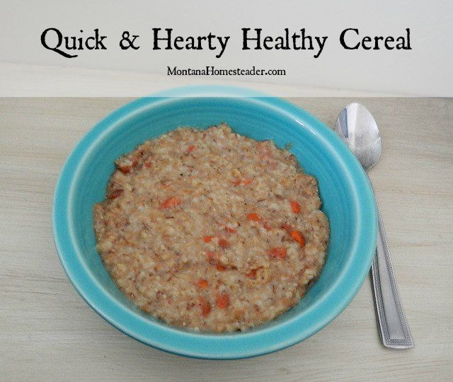 This quick and hearty healthy cereal is just the thing to fill my belly and fuel my body for several hours of work around the homestead | Montana Homesteader #hotforbreakfast