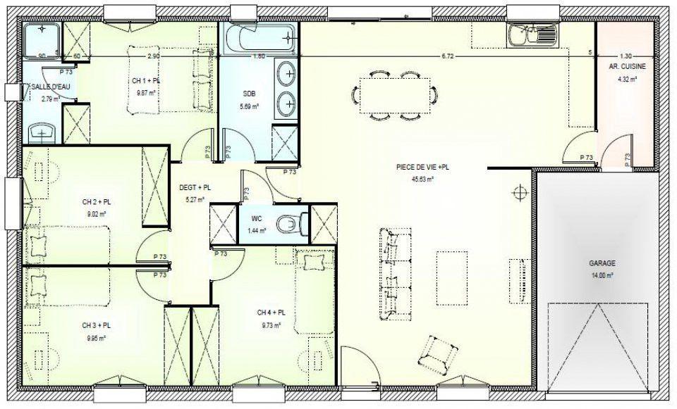 Plans De Maisons Individuelles Gratuits Plan Maison Moderne Gratuit 14 Cuisine Plain Pied Systembase Co 7 Architecte Chaios Com