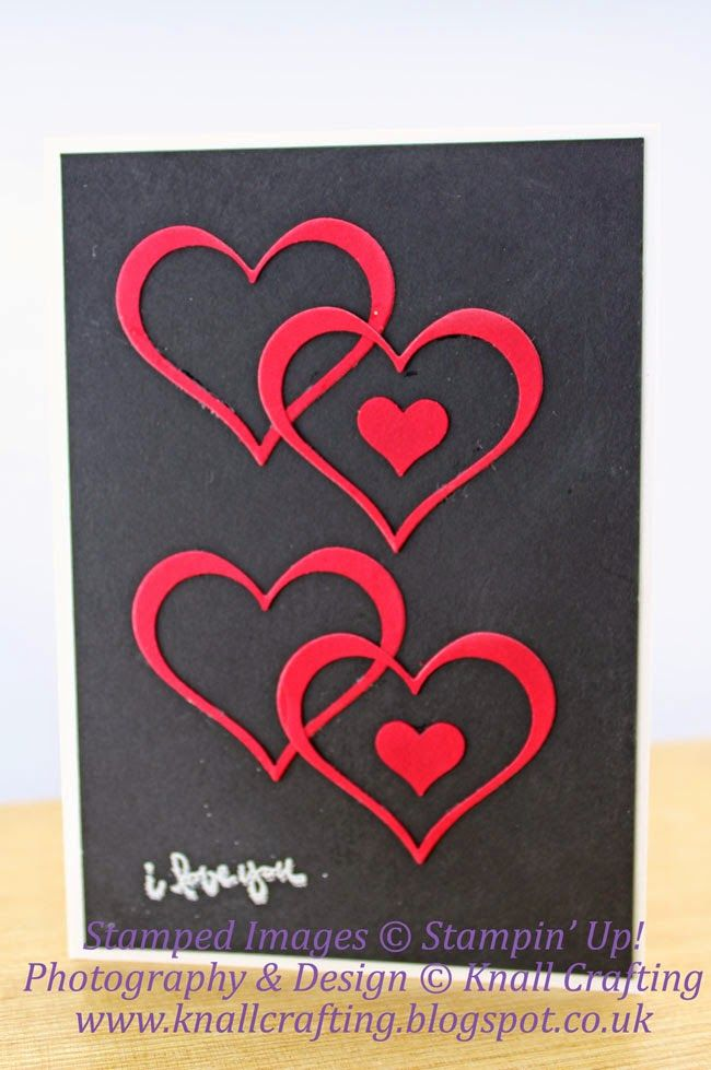 stampin up hand crarfted valentine love card from knall