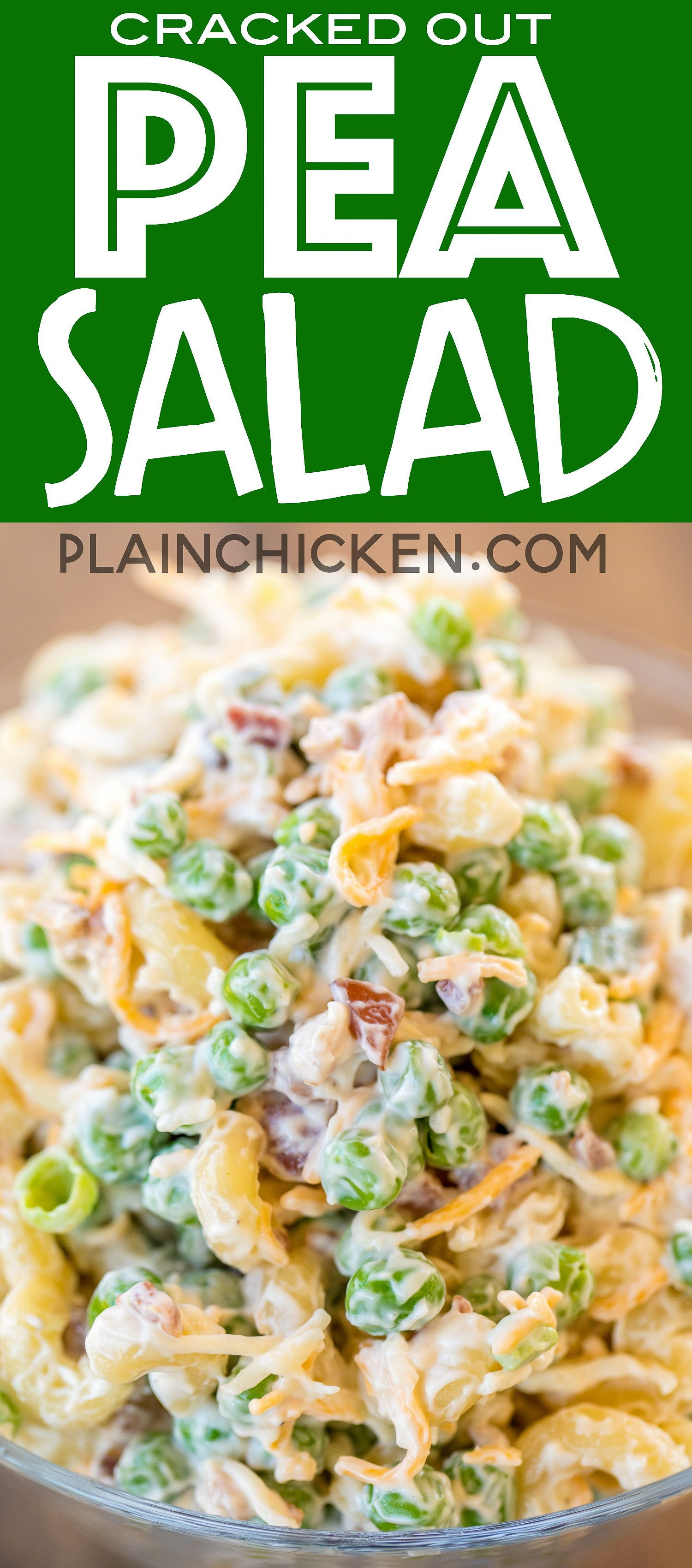 Cracked Out Pea Salad Macaroni And Green Peas Tossed In