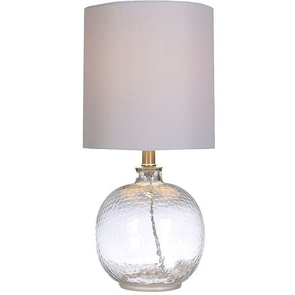 Hammered Clear Glass Table Lamp 30 Liked On Polyvore Featuring Home Lighting Table Lamps Gray Table Clear Glass Table Lamp Glass Table Lamp Table Lamp