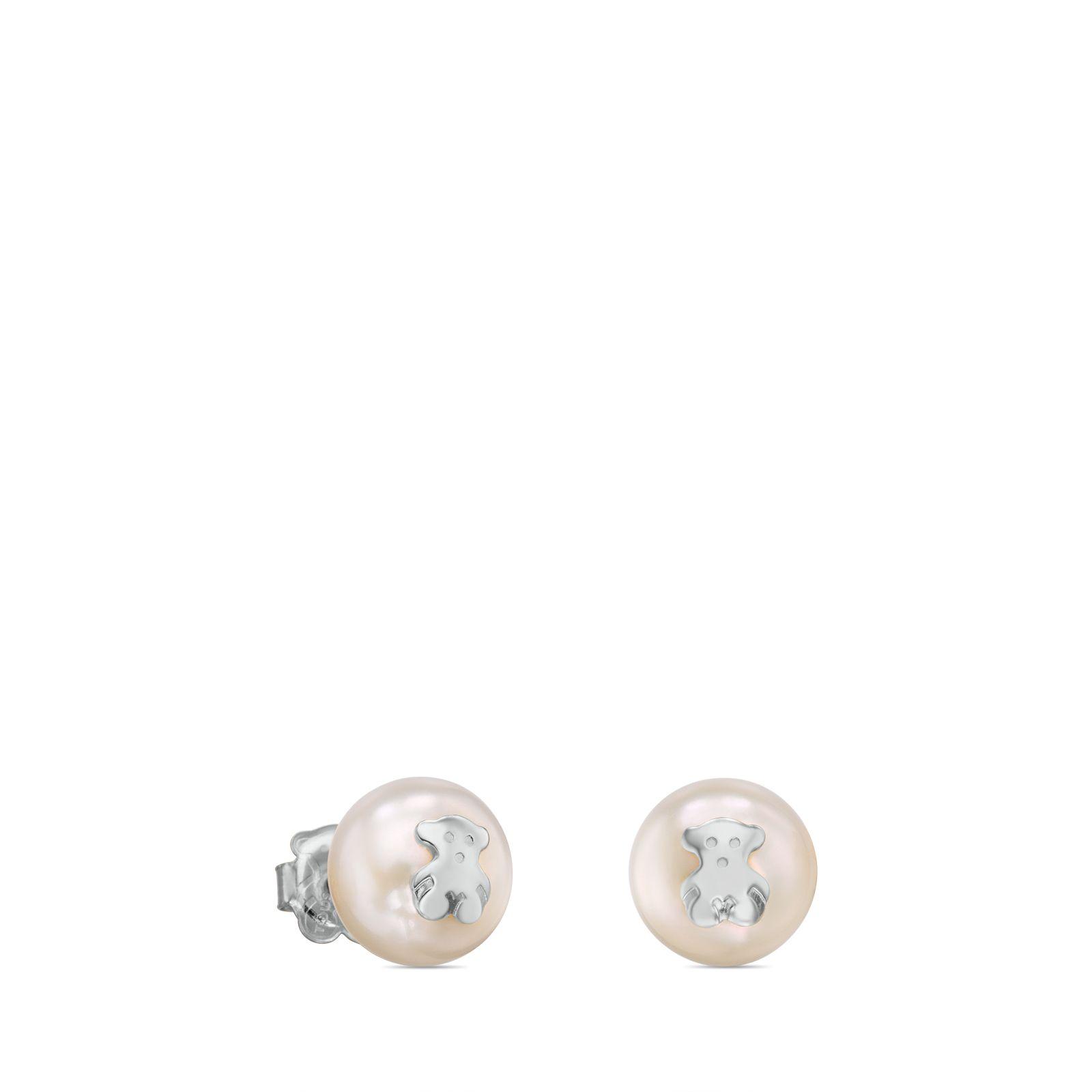 Pendientes perlas blancas de tous