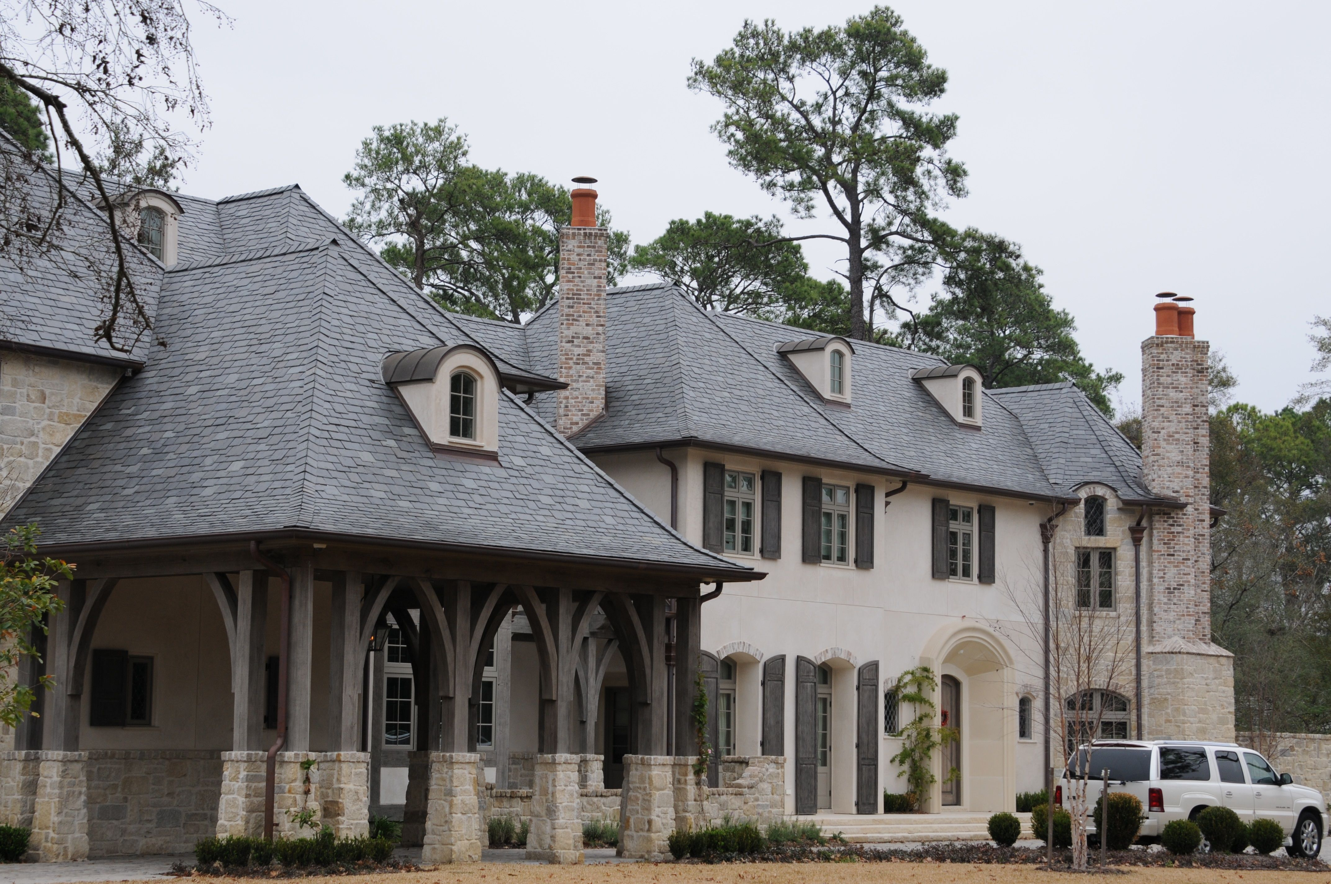 Two color slate roof blend with north country unfading for Vermont slate colors