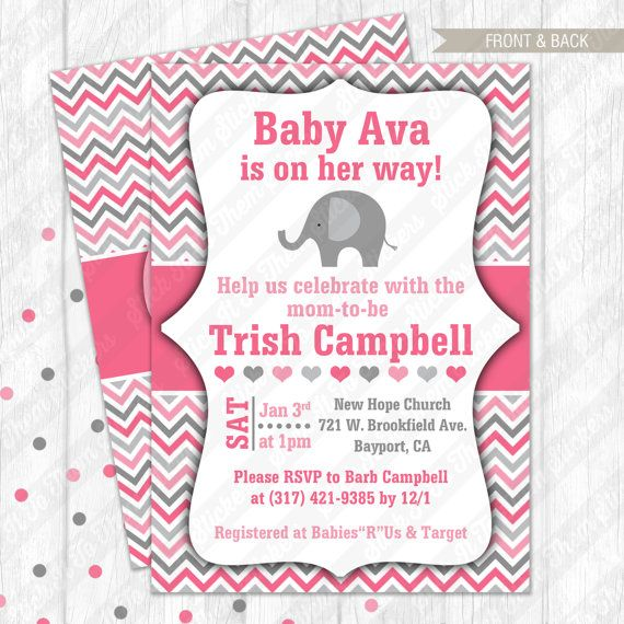 Elephant chevron baby girl shower by stickittothemsticker etsy elephant chevron baby girl shower by stickittothemsticker filmwisefo