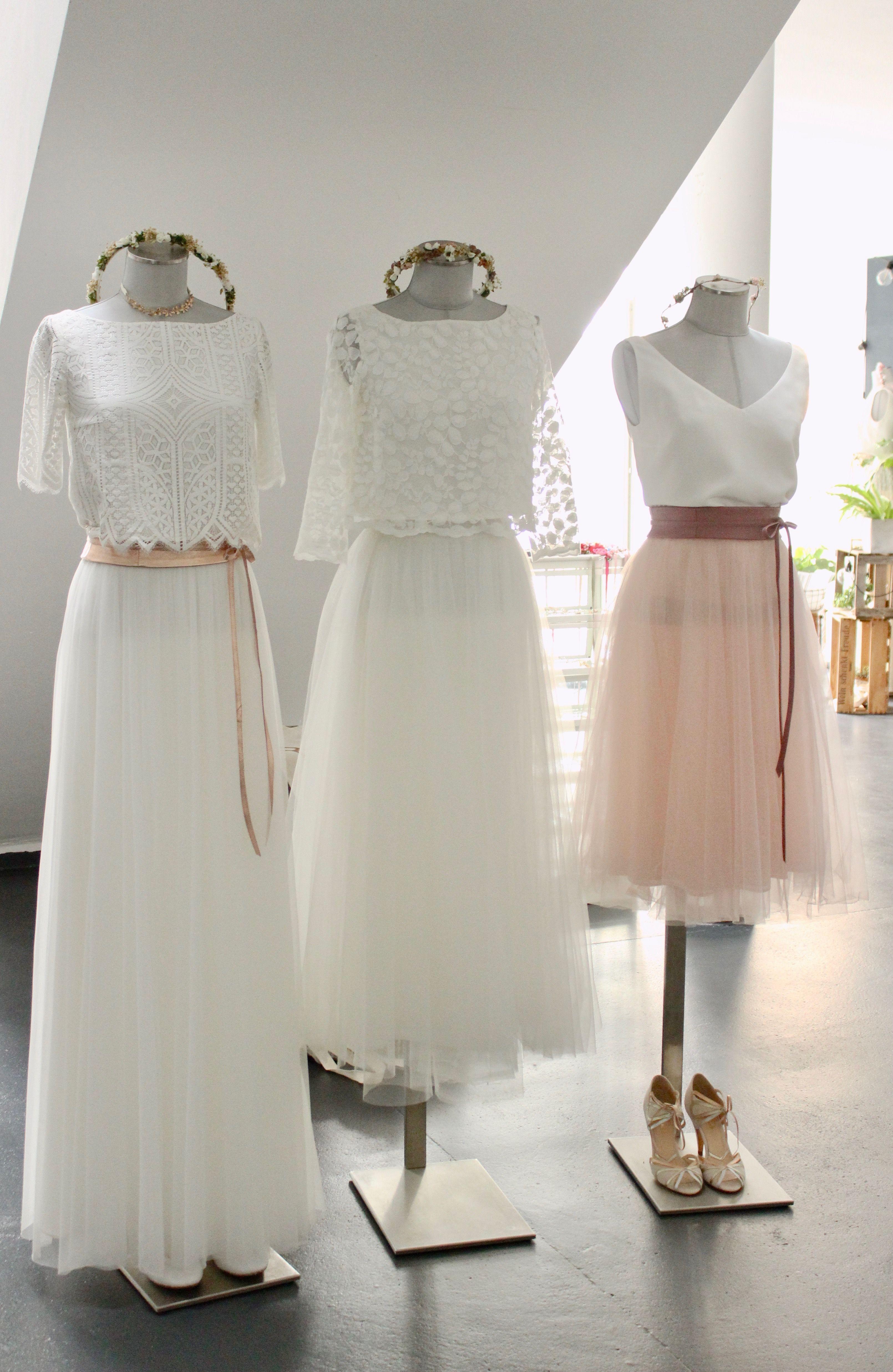 moderne brautkleider zweiteilige hochzeitskleider und