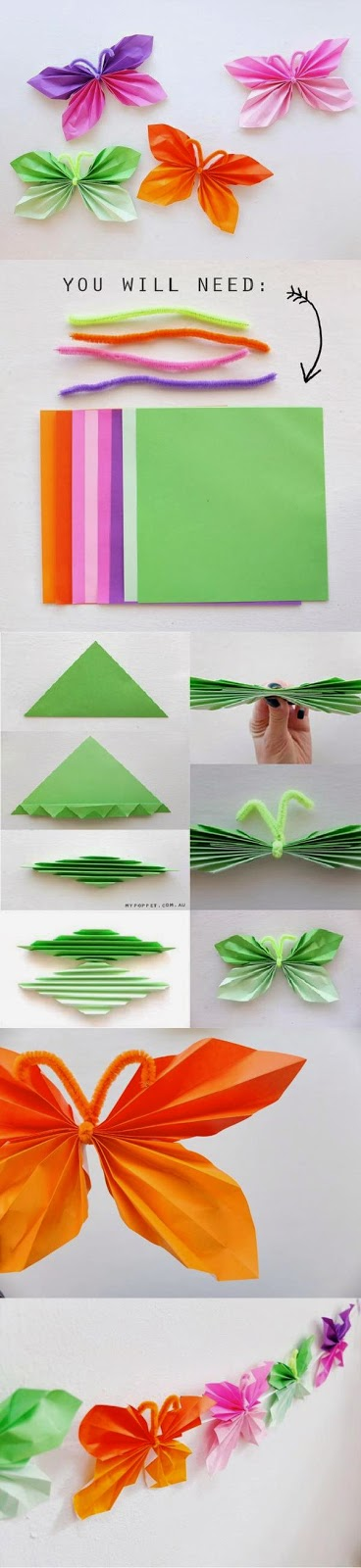 Tutoriales y DIYs: Mariposas de papel