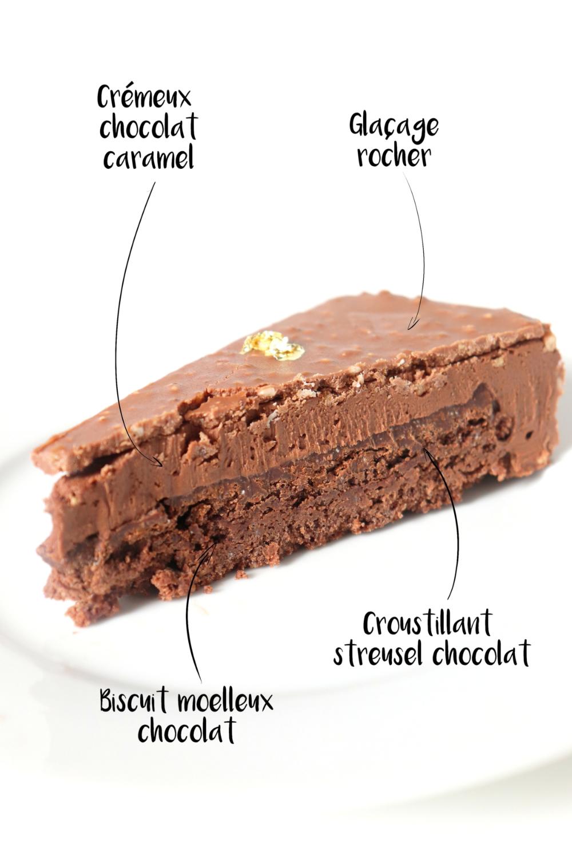 Entremets Saint-Valentin chocolat caramel – Recette