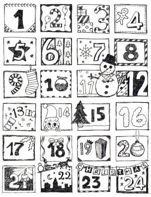 Advent Calendar Craft Projects Christmas Coloring Pages Diy