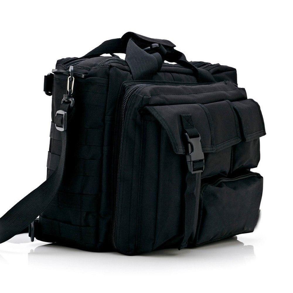 Military MOLLE Tactical Handbag Briefcase Travel Messenger Shoulder Bag Pack