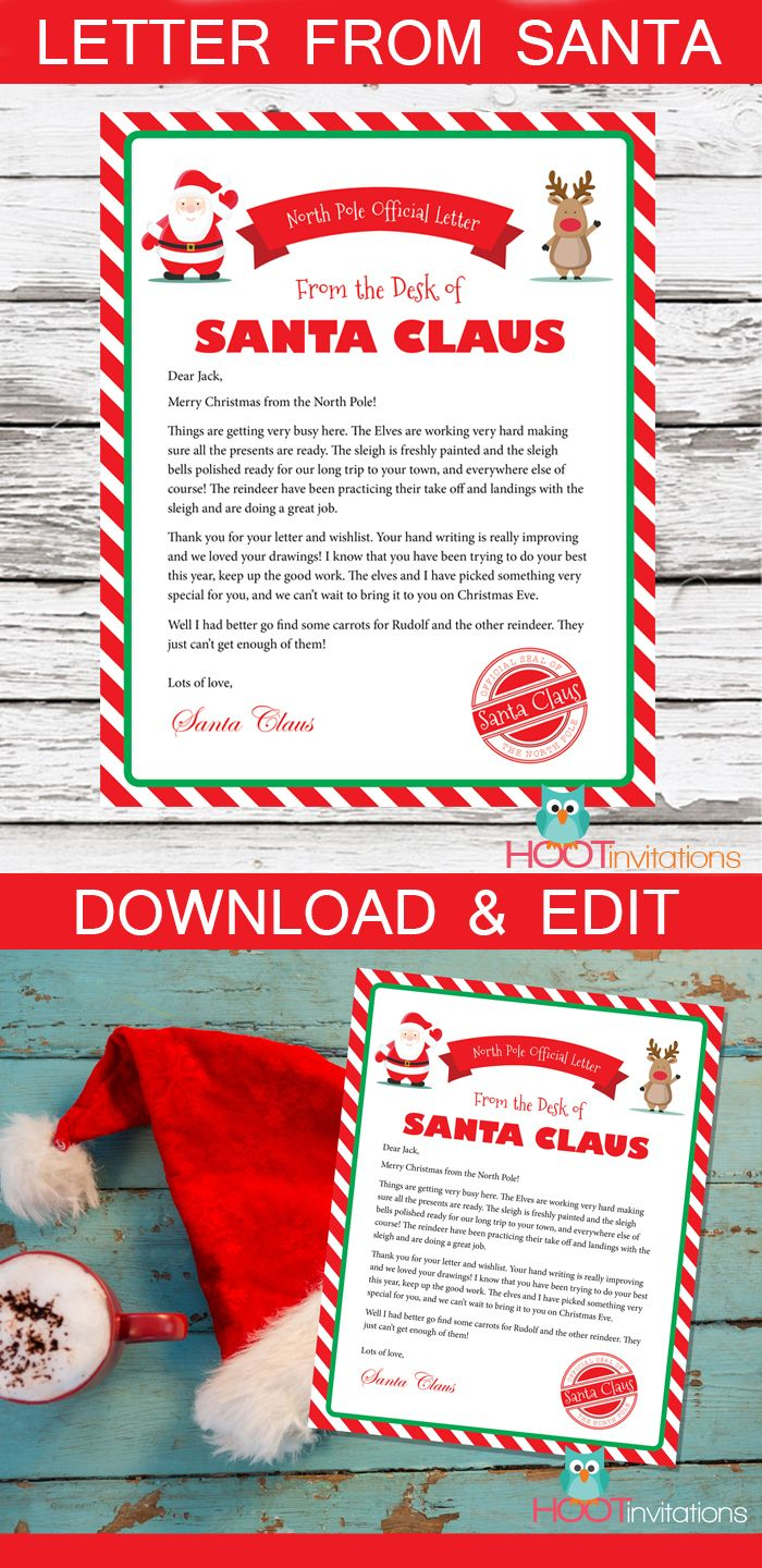 Letter from santa christmas letter santa letter gift idea for letter from santa gift idea for kids surprise your child with a personalized letter from spiritdancerdesigns