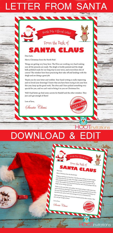 Letter from Santa, Christmas Letter, Santa Letter, Gift