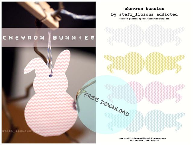 stefi_licious addicted: chevron bunnies Freebie
