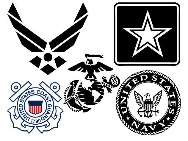 Military Logos Vector Army Navy Air Force Marines Military Logo Marines Logo Military Graphics