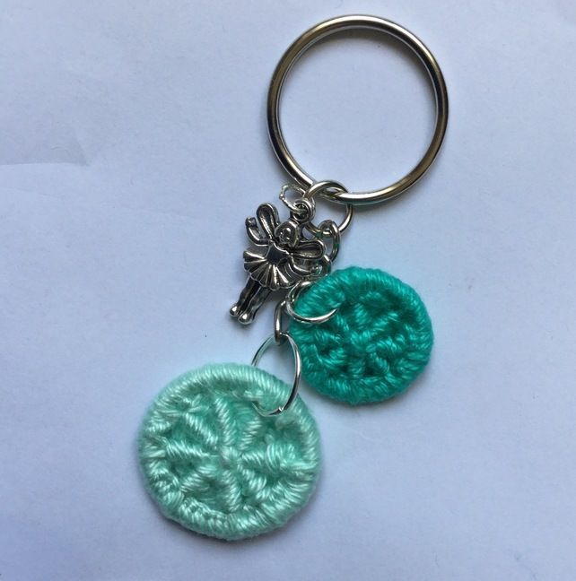 Keyring Bag Charm with Dorset Buttons and Fairy £7.00