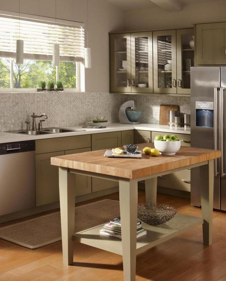 Petite cuisine avec îlot central? Oui, voilà 28 exemples! Tables - cuisine avec ilot central et table