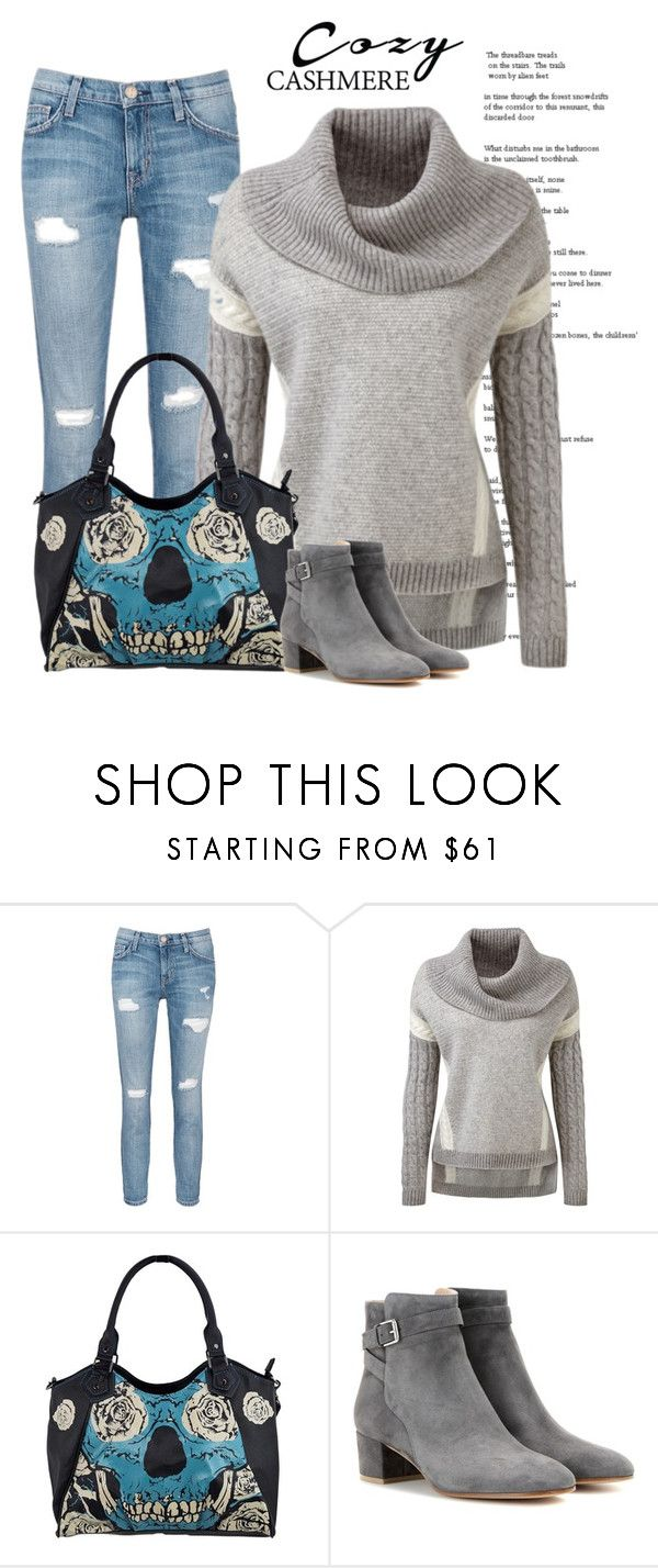 """""""Cashmere Sweater"""" by jessicarabbit59 ❤ liked on Polyvore featuring Current/Elliott and Gianvito Rossi"""
