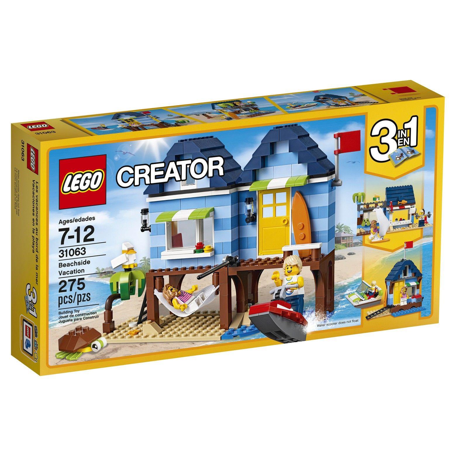 Lego Creator Beachside Vacation 31063 Br Enjoy The Beach Life With The 3 In 1 Beachside Vacation Have Summer Fun With T Lego Creator Lego Creator Sets Lego