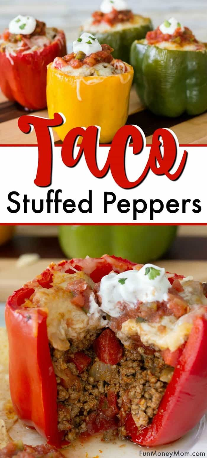 Taco Stuffed Peppers | Fun Money Mom