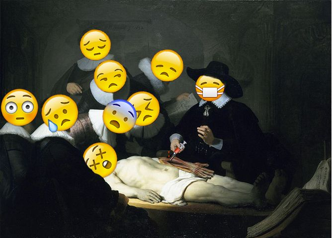 The Anatomy Lesson of Dr. Nicolaes Tulp - Rembrandt Made by the Emo ...