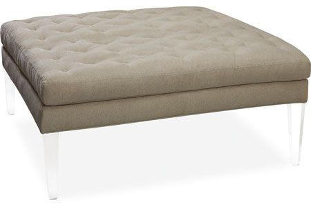 Lee Furniture Ottoman With Lucite Legs Home Sweet In
