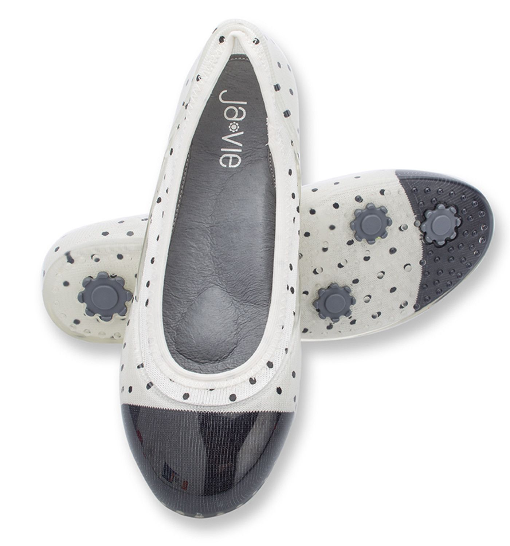 Whiteblack dot jelly flats shoes   Black dots, Flats, Shoes