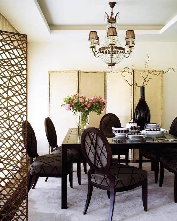 Dining room decorating black accents white walls elegant contemporary table chairs eclectic home decor ideas
