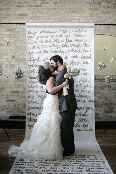 Written Paper Scroll Wedding Ceremony Backdrop