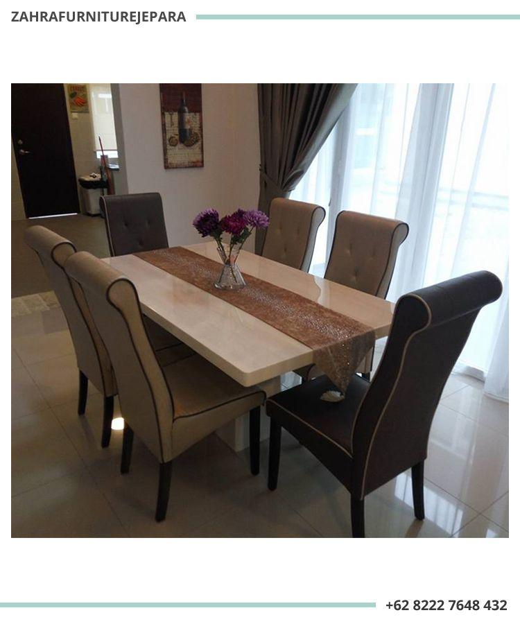 Dining Set Minimalis Modern 6 Kursi Mewah Minimalis Rumah