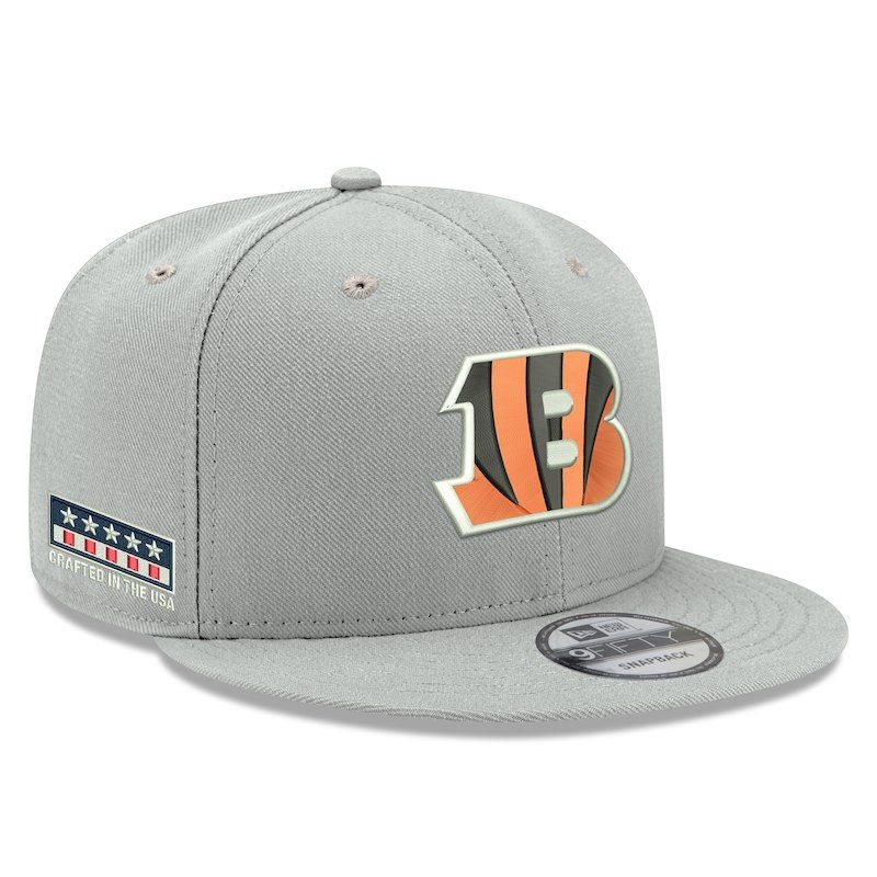 b5a3cea42 Cincinnati Bengals New Era Crafted in the USA 9FIFTY Adjustable Hat – Gray
