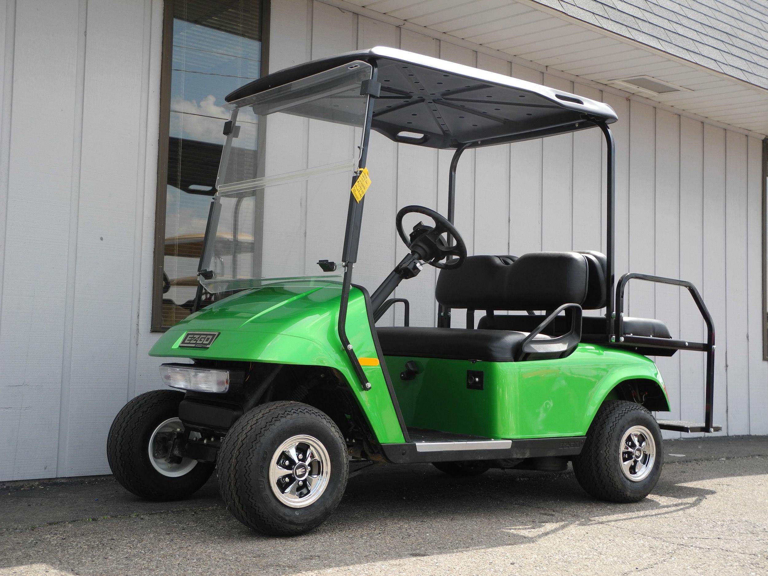 This 2013 E Z Go Gas Golf Car Is Street Ready With Headlights Tail Lights Brake Lights Turn Signals Folding Windshield Car Golf Car Street Legal Golf Cart
