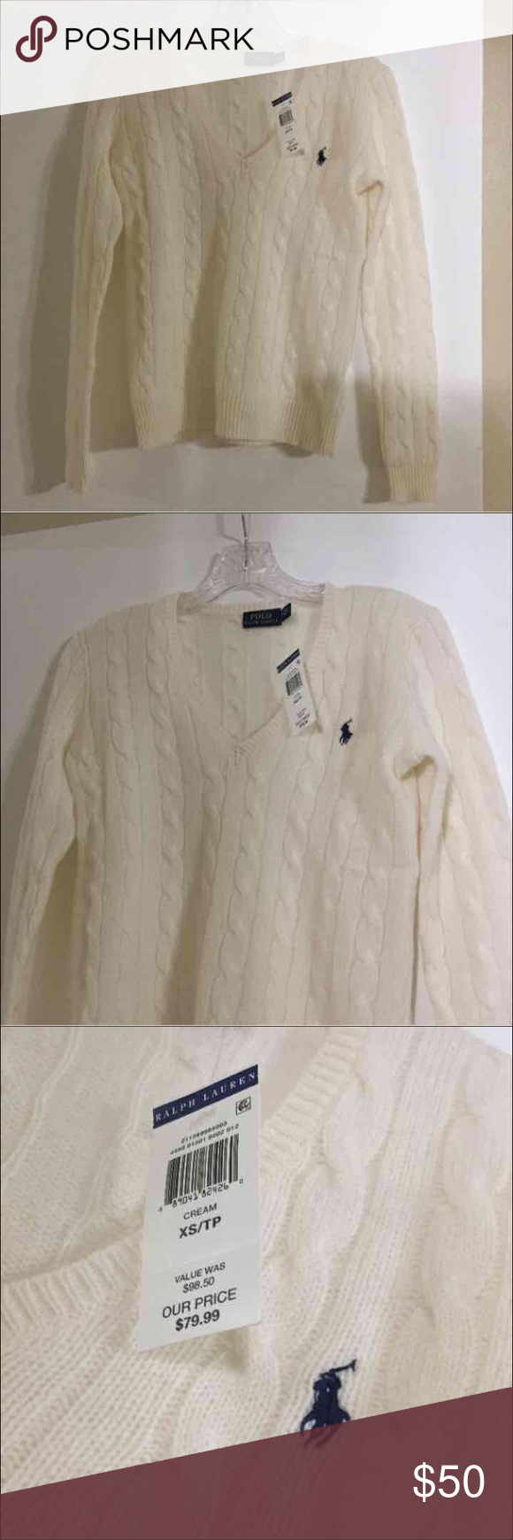 Brand new polo sweater new with tags perfect for a Christmas present Polo by Ralph Lauren Sweaters V-Necks