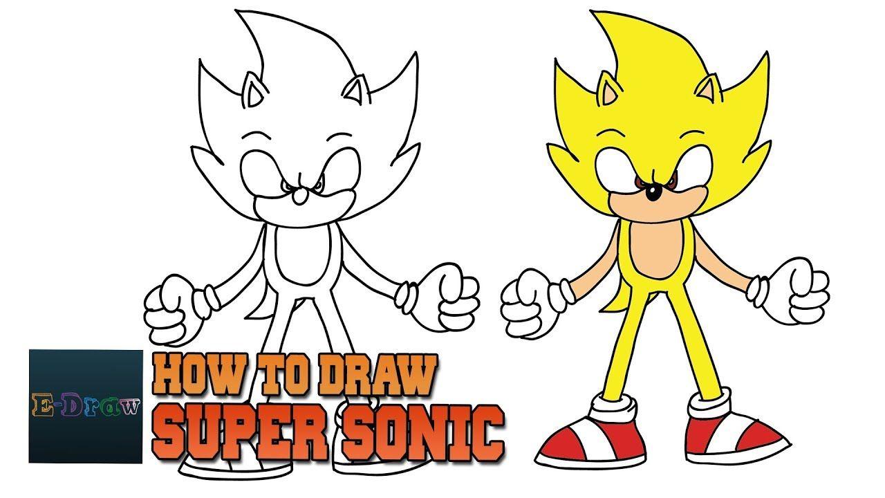 How To Draw Super Sonic Como Dibujar A Dark Sonic The Hedgehog