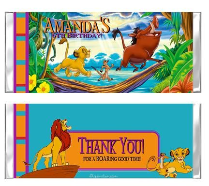 Lion King party invitations and favors Top Party Themes