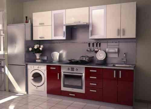Cuisine rouge et grise qui incarne lu0027idée du0027une vie moderne Kitchens