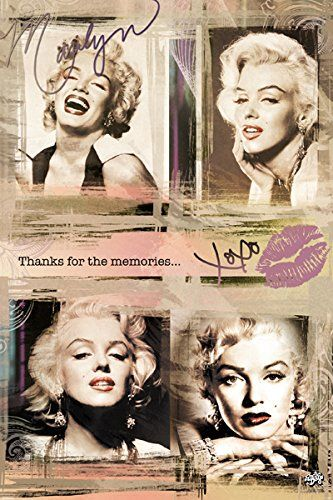Marilyn Monroe 4 Panels Collage Poster 24x36 See This Great
